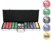 """Набор для покера """"НАТС""""-500 фишек с номиналом"""