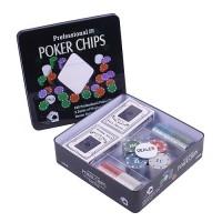 """Набор для покера """"ХОЛДЕМ ЛАЙТ""""-100 фишек+2 колоды карт"""