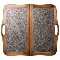 """Нарды деревянные """"КОЖАНЫЕ ТАЙПАН"""" с ручкой 60х60 см."""